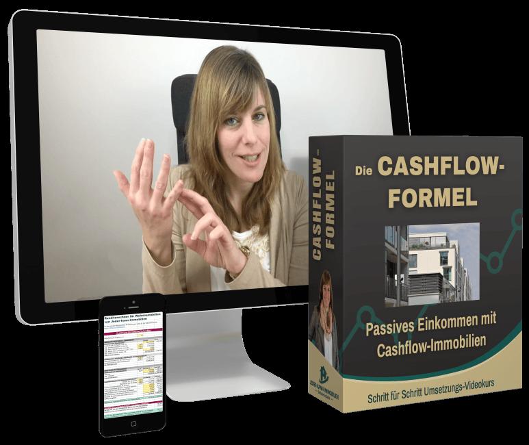 Cashflow-Formel mit Handy u PC