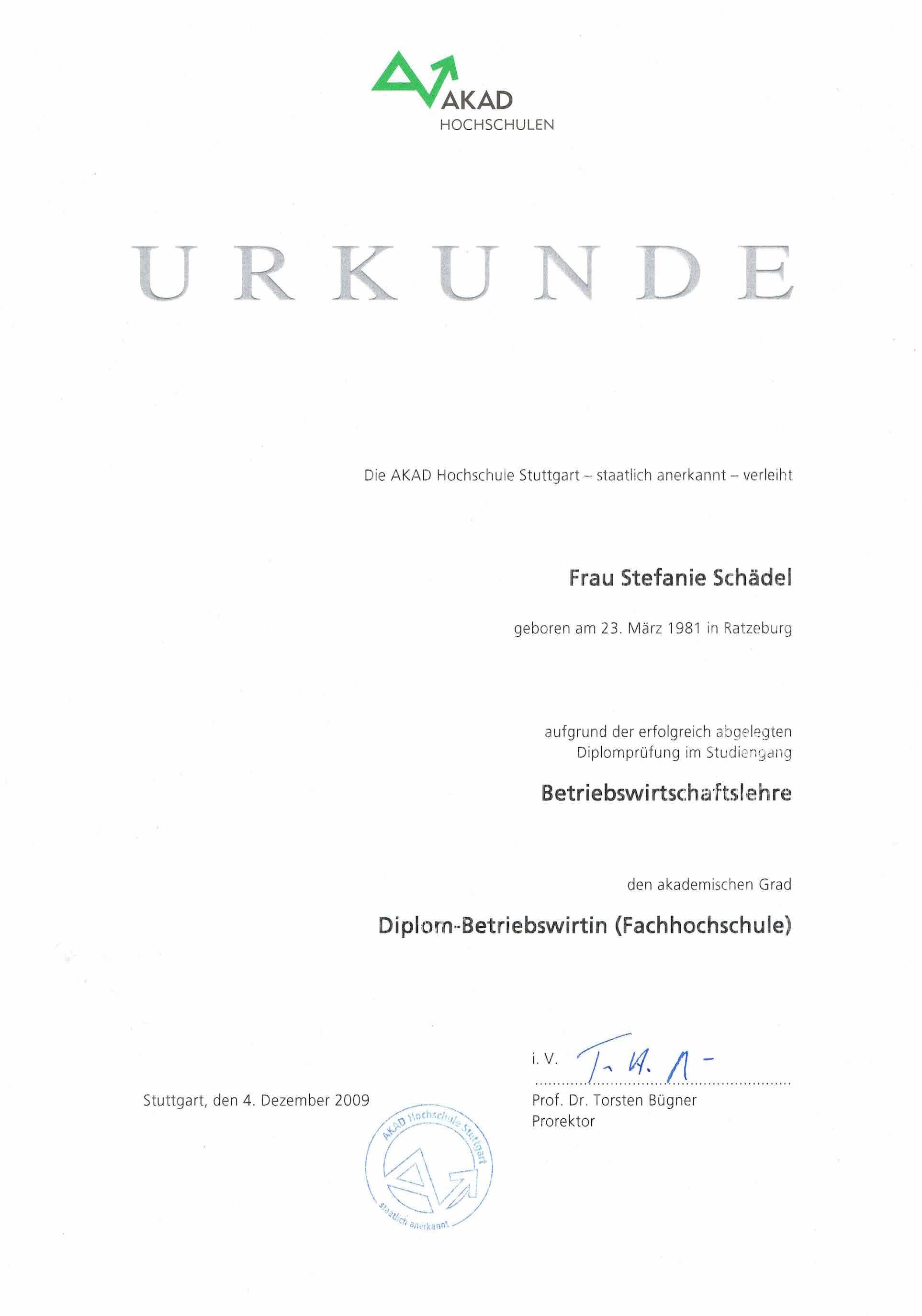 Diplom-Betriebswirtin FH