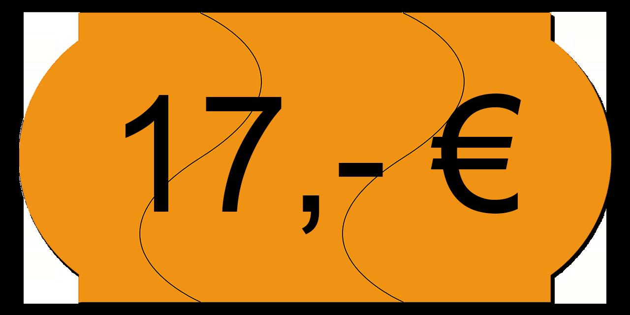 Preisschild 17,00