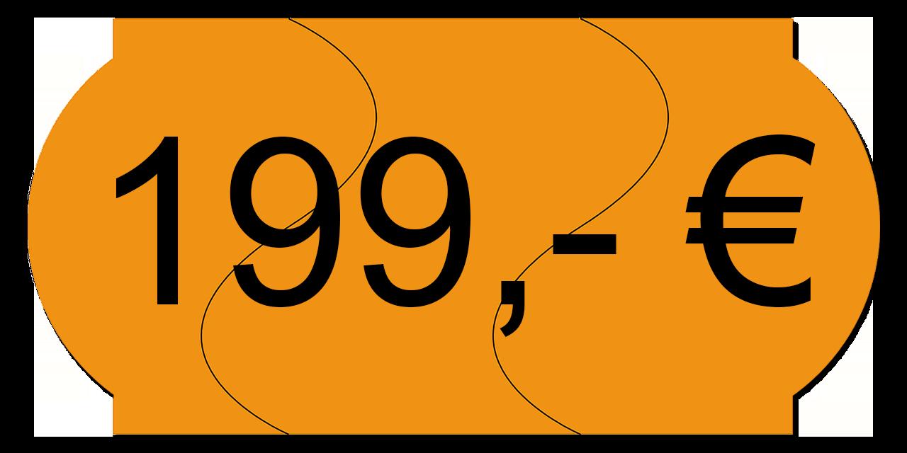 Preisschild 199,00