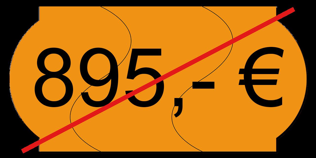 Preisschild 895,00
