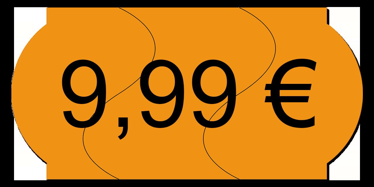 Preisschild 9,99