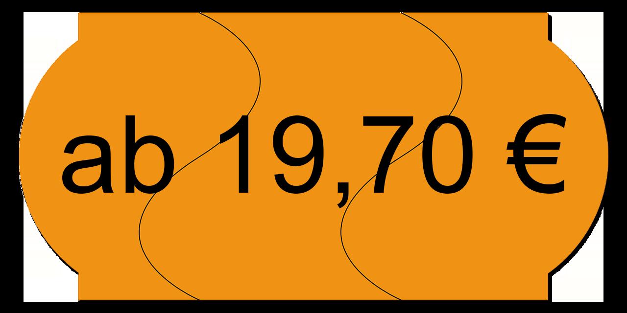 Preisschild ab 19,70