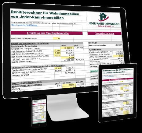 Renditerechner Immobilien Excel Rendite berechnen