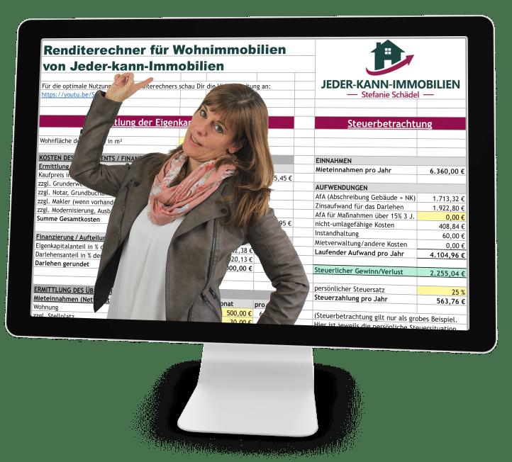 Renditerechner Immobilien Rendite berechnen Excel Video Anleitung Tool